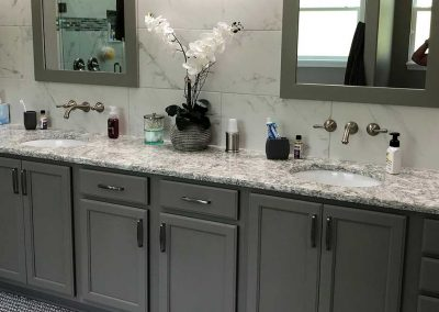 Remodeled Bathroom Countertops