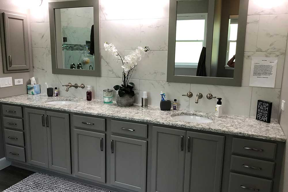 Remodeled Bathroom Cabinets